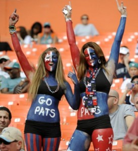 Patriots fans in Miami