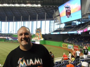David Gonos at Marlins Park