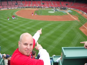 Tresky on The Green Monster at Fenway Park