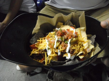 Helmet full of nachos!