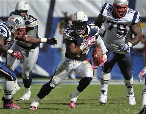 Ryan Mathews, RB, San Diego Chargers -- He's now a top-five Fantasy RB according to some.