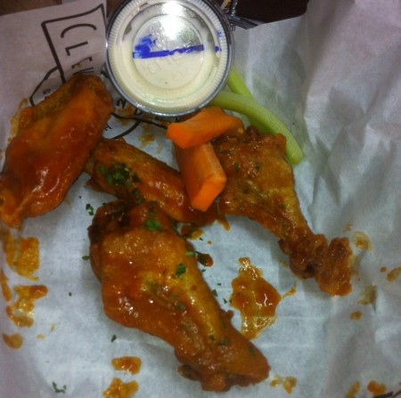 Buffalo wings at Marlins Park