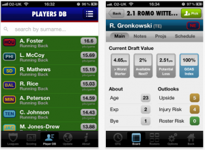 Draft GM - Fantasy Footbal Draft iPad App