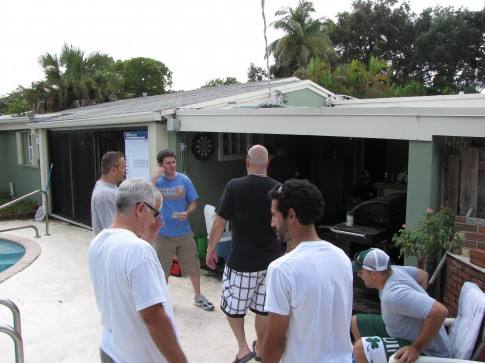 Patio before the draft - Fantasy Football 2012 Keeper Draft