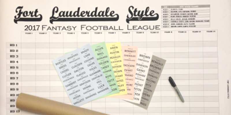 2017 Customizable Fantasy Football Draft Boards - 1000x500