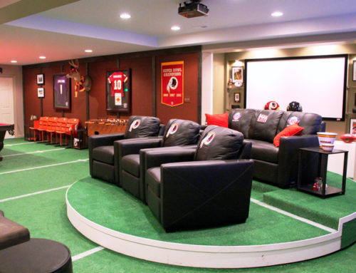The Ultimate Man Cave: Build a NFL-themed Sports Bar in Your Home