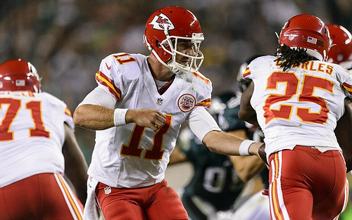 Alex Smith keeps putting up respectable Fantasy lines and could help through the Bye Weeks.  (Photo Credit: Racrat Jenny)