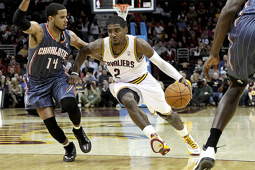 Kyrie Irving lack of assist totals may have more to do with his teammates than his play making ability. Photo by: JBOTCH