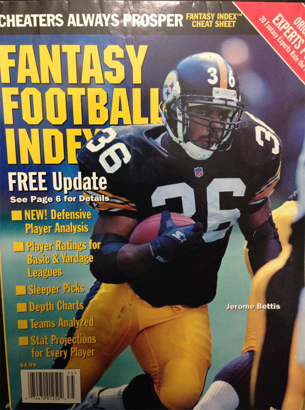 1997 Fantasy Football Index, Jerome Bettis