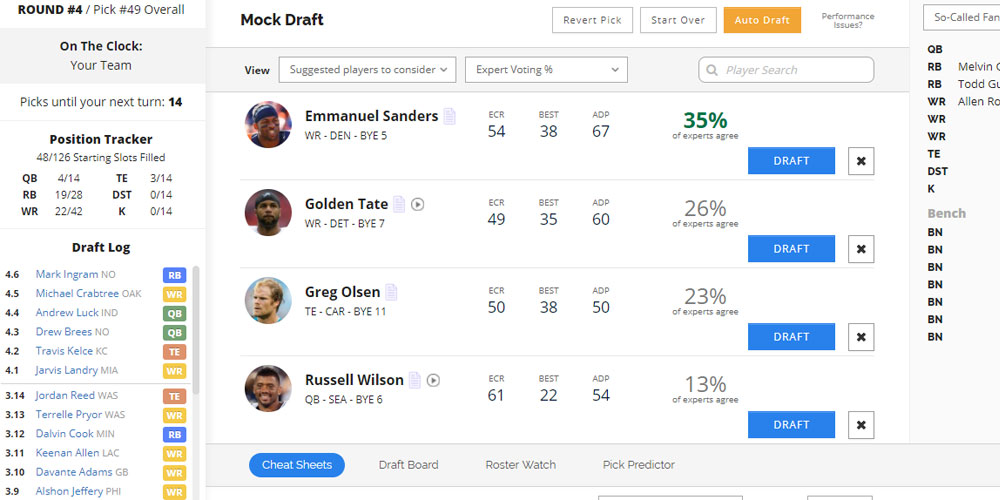 Fantasy Football Draft Assistant - Draft Wizard
