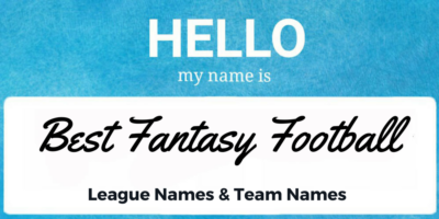 Best Fantasy Football League Names and Team Names