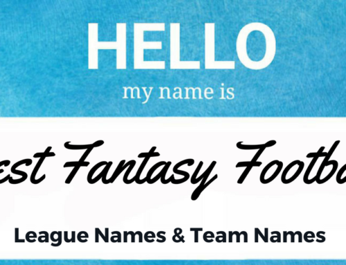 19 Ideas for Fantasy Football League Names & 69 Team Names
