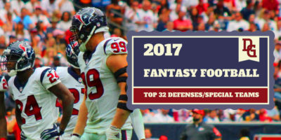 Victor Araiza 2017 Fantasy Football Defense Rankings