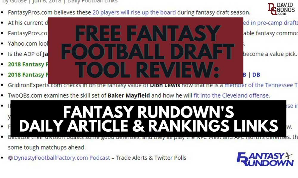Top Fantasy Football Links Rankings Fantasy Rundown